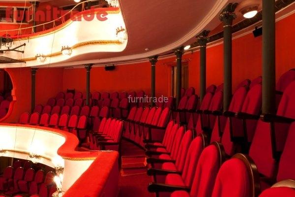 Театральные кресла Бенефис в театре им. Маяковского от производителя Фурнитрейд.