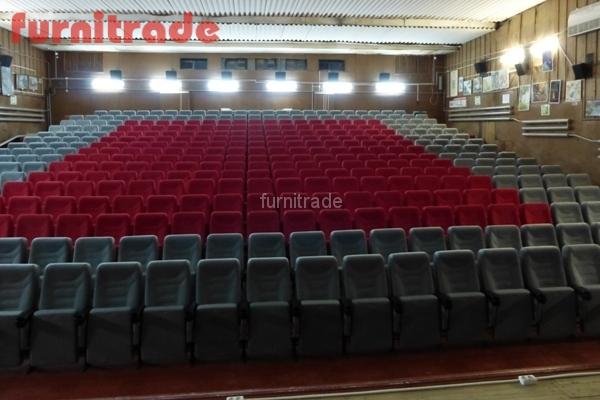 Кинотеатральные кресла Спутник от производителя в кинотеатре Победа г. Ахтубинск
