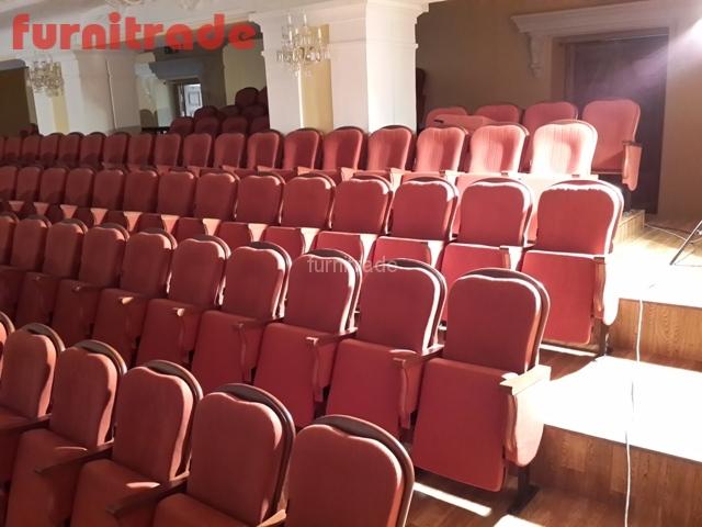 Театральные кресла от производителя Фурнитрейд в Филармонии г. Хабаровск.
